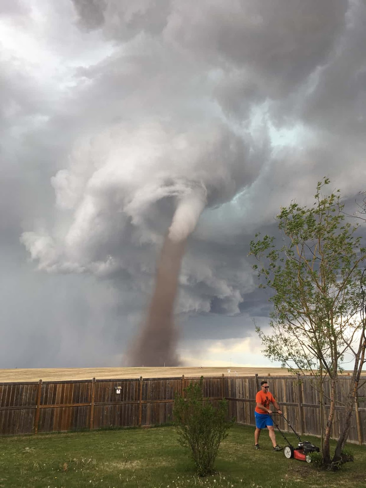 25 Of The Most Intriguing Pictures Of 2017 - A tornado blows in Alberta, Canada