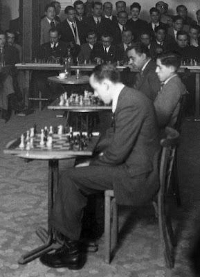 Simultáneas de ajedrez de Alekhine en Lérida en 1944