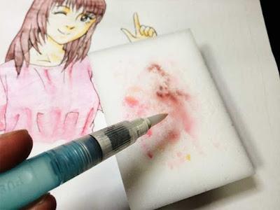 水筆の洗浄
