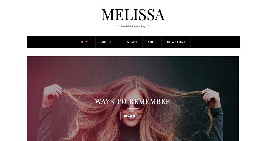 Melissa - Responsive Personal Blogger Template