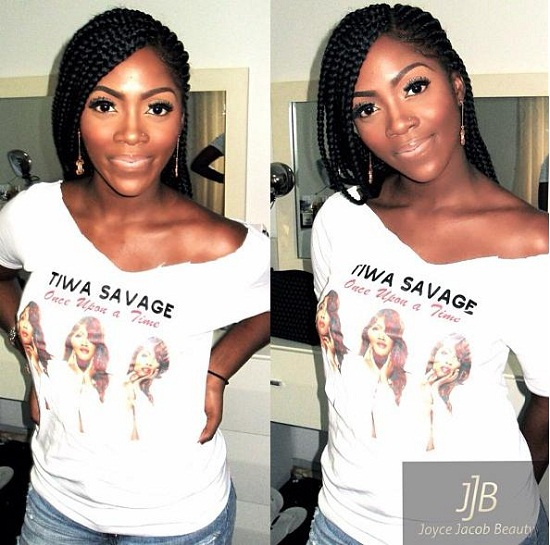 tiwa savage cornrow braids