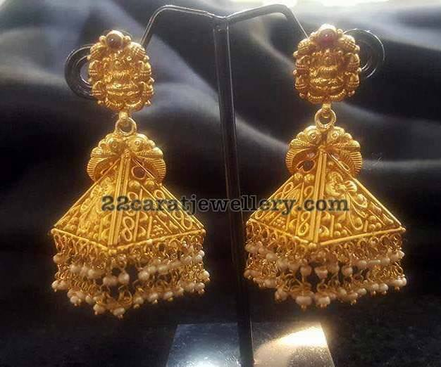 Heavy Silver Jhumkas Jewellery Designs