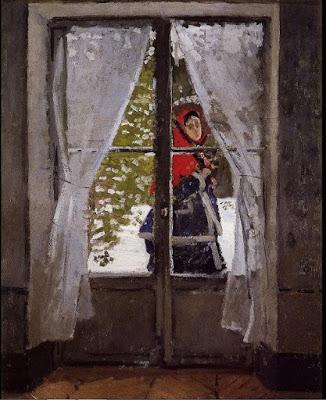 La capeline rouge de  Claude Monet portrait de Camille l'épouse de Calude Monet
