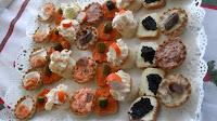 Tartaletas variadas para fiestas.
