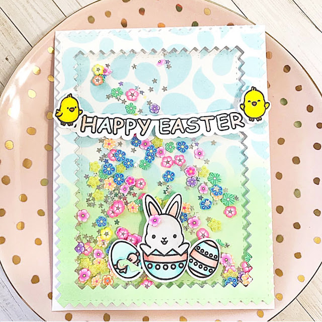 Sunny Studio Stamps: Chubby Bunny Customer Card Share by Lisa