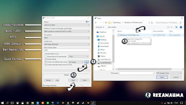 Langkah pembuatan bootable flashdisk menggunakan rufus mudah