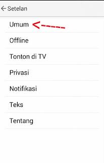 Cara Memblokir video YouTube di Android langkah ketiga
