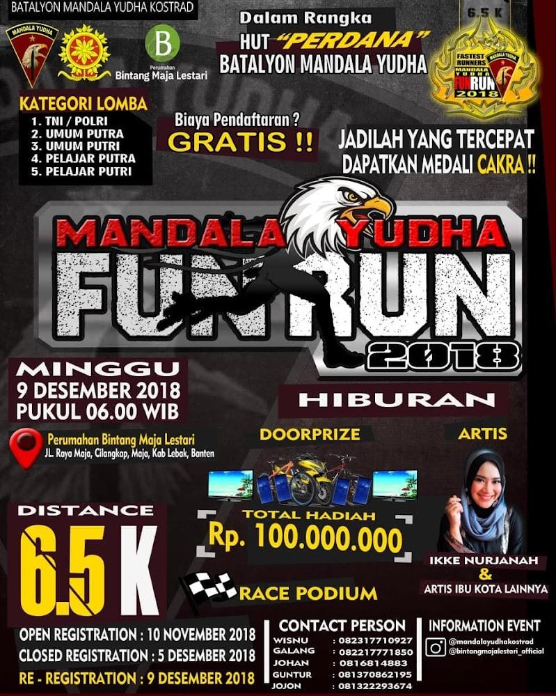 Mandala Yudha Fun Run • 2018