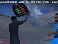 PES 2017 New Substitutions Board TAG Heuer