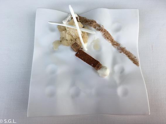 Yogurt y cinco especias Azurmendi. Experiencia gastronomica