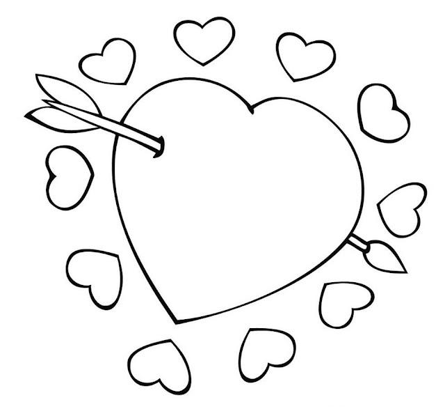 corazones de amor para colorear faciles