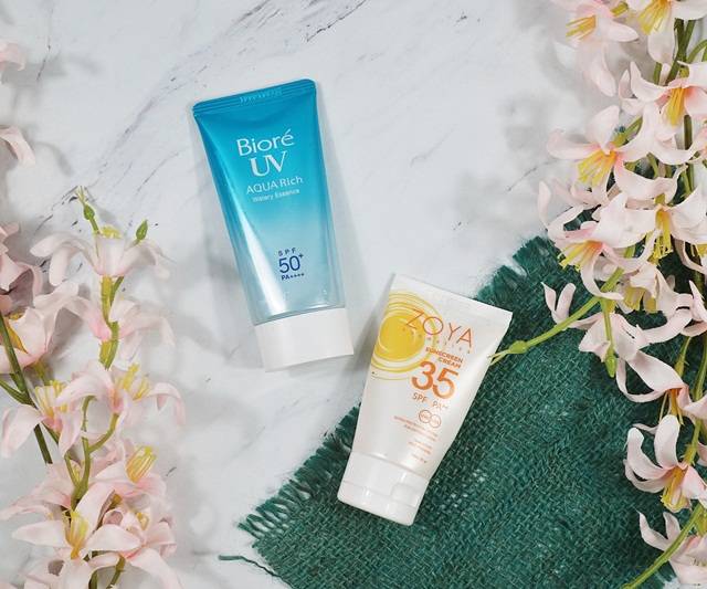 Sunscreen Biore and Zoya