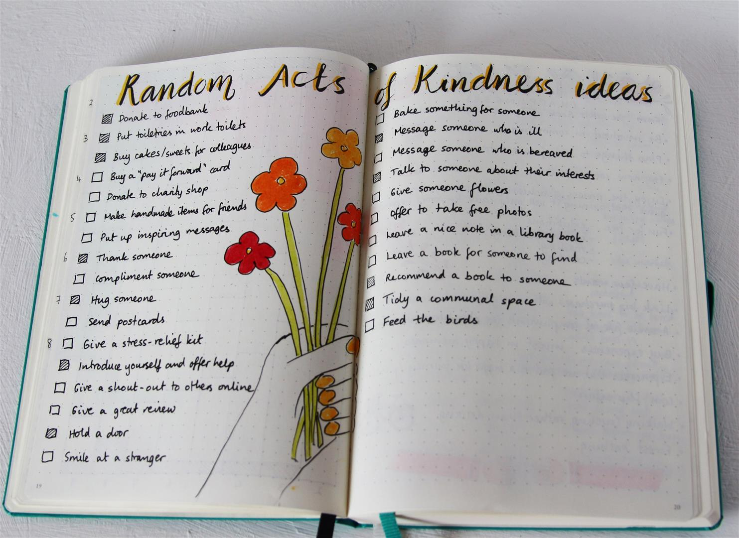 Emuse Bullet Journal Ideas Random Acts Of Kindness
