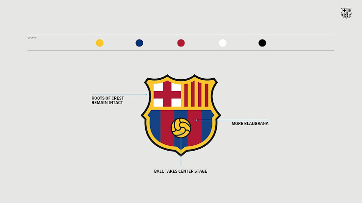 new fc barcelona logo revealed footy headlines new fc barcelona logo revealed footy
