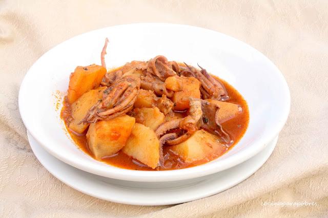 Pota guisada con patatas