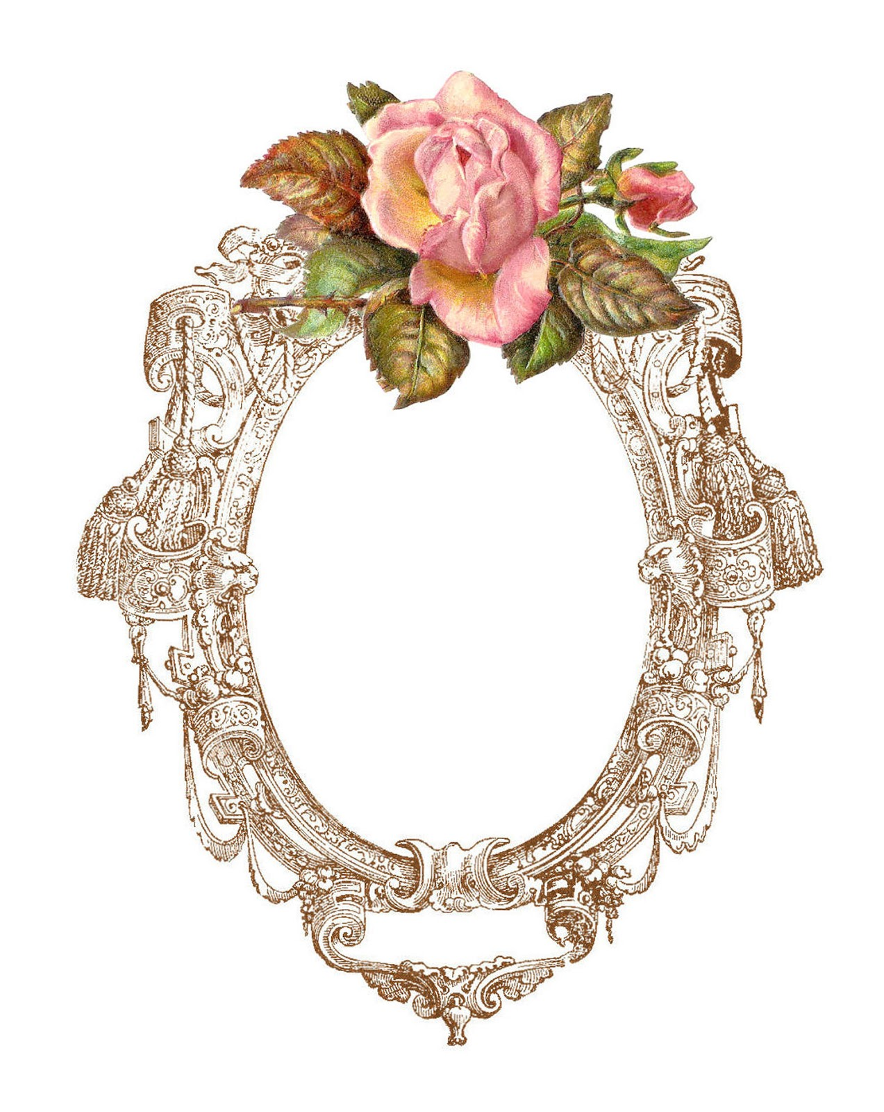 Antique Images Free Digital Frame Printable With