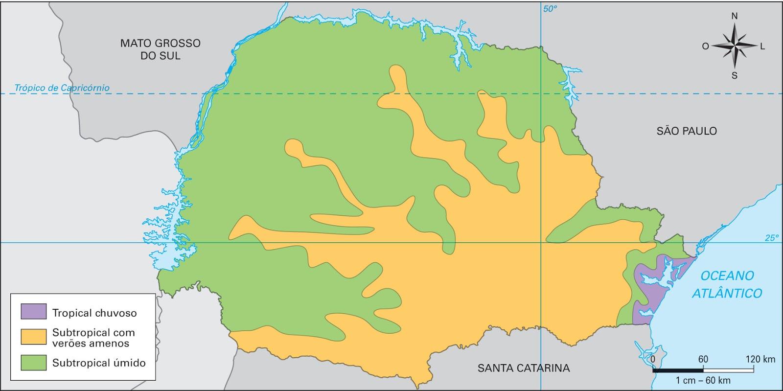 Mapa Climatológico Paraná