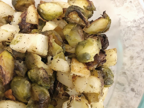 Roasted Brussels Sprouts and Potatoes