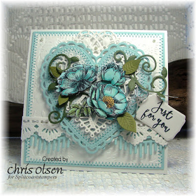 Our Daily Bread Designs, designed by Chris Olsen, Boho Blessings, Fragrance, Dies: Ornate Hearts, Beautiful Borders, Mini Tags, Fancy Foliage, Doily, Birds and nest die