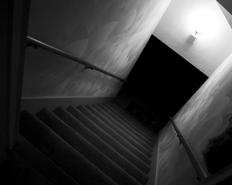 basement stairs looking down. A dark corridor would be a good scene to have when the teenagers are on  edge of escaping kidnapper The and steep steps signifies they Megan s Media Blog Location Research And Ideas