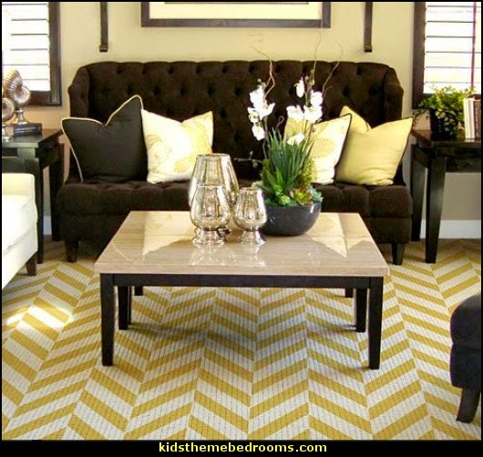 Herringbone Allover Stencil