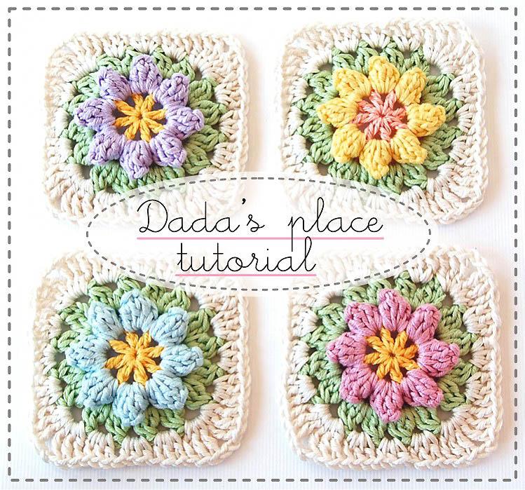 Free Crochet Patterns Club Free Granny Square Flower Crochet Pattern