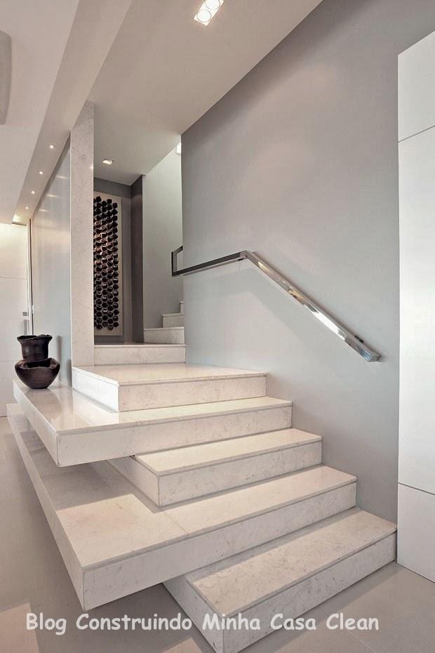 Construindo minha casa clean 20 escadas modernas com for Atrio dentro casa