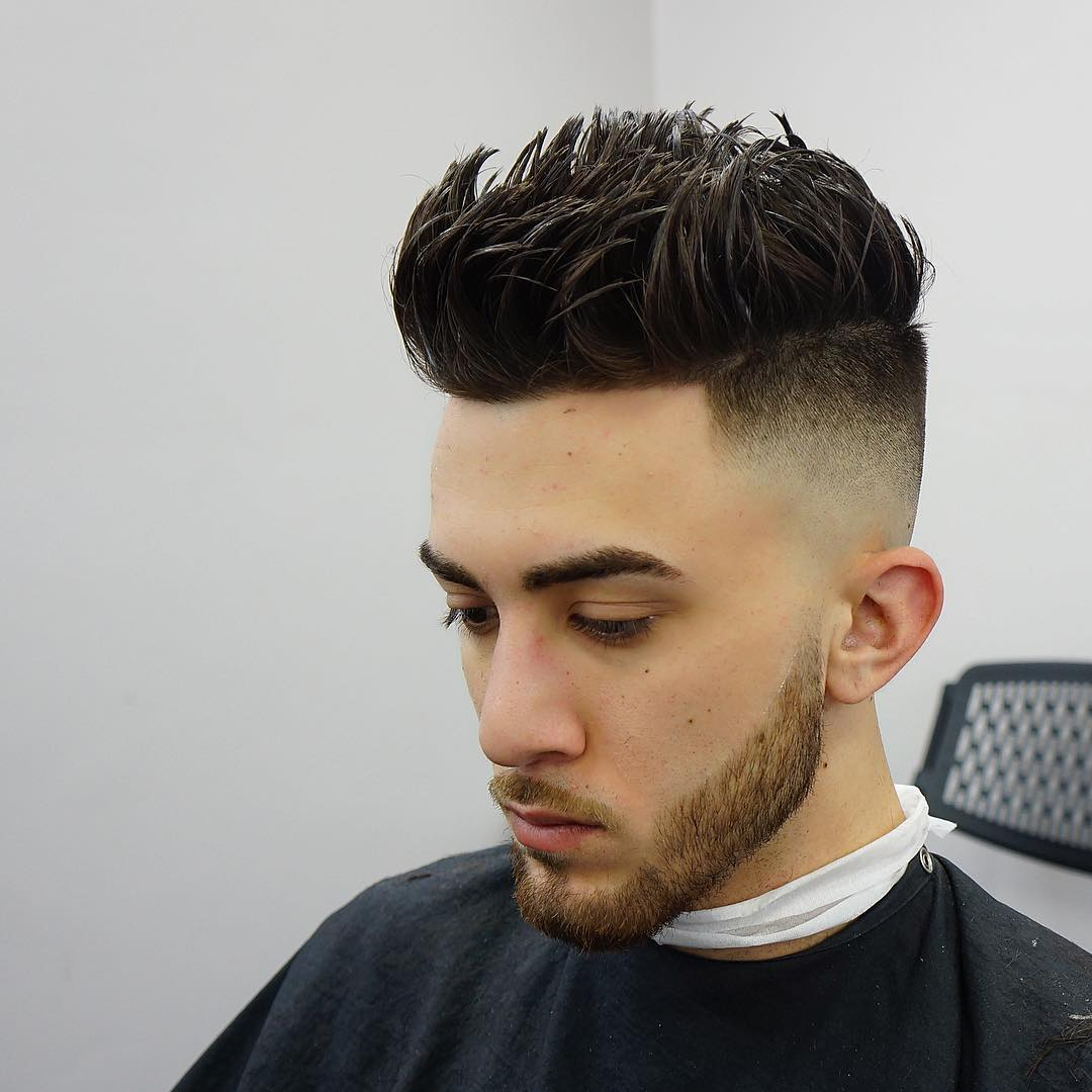 Sharp Faded Undercut Hairstyle For Men