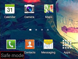 Cara masuk atau aktifkan safe mode pada Hp android Lengkap