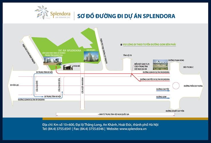 Sơ đồ đường đi dự án Splendora