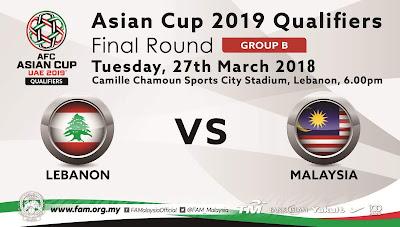live streaming malaysia vs lebanon 2018