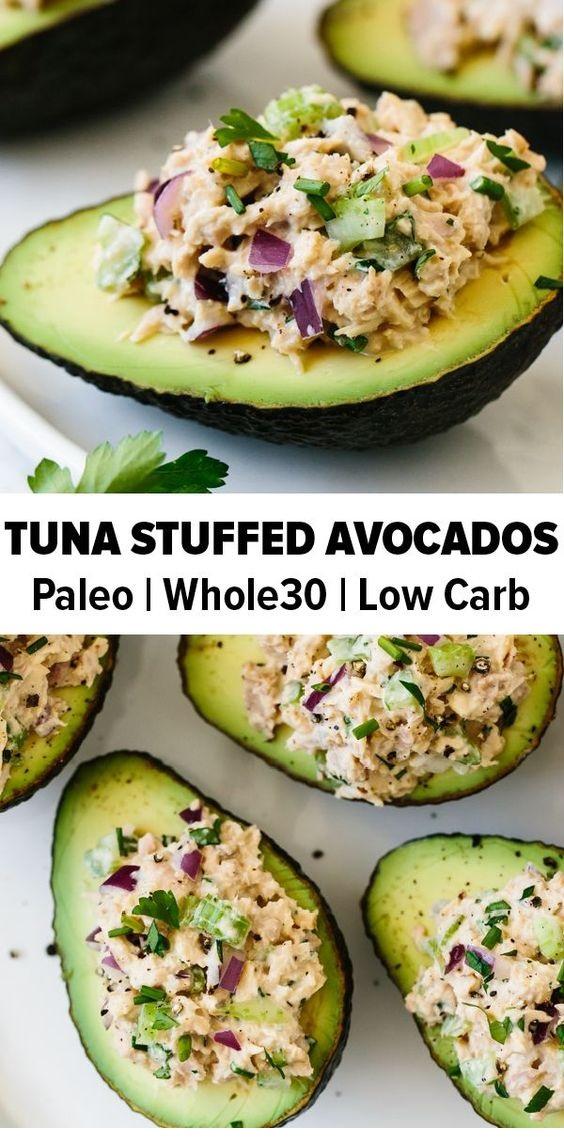 Tuna Stuffed Avocados