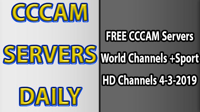 FREE CCCAM Servers World Channels +Sport HD Channels 4-3-2019