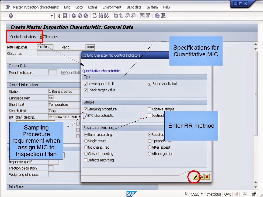 Sap Learning Amp Examination Step By Step Hr Qs21 Create Master Inspection Characteristics