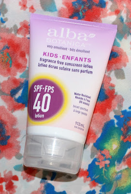 Alba Botanica Kids Fragrance Free Sunscreen Lotion