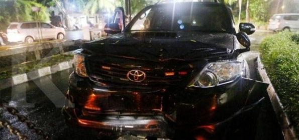 Polisi: Saat Kecelakaan Setnov Bersama Ajudannya dan Wartawan Metro TV