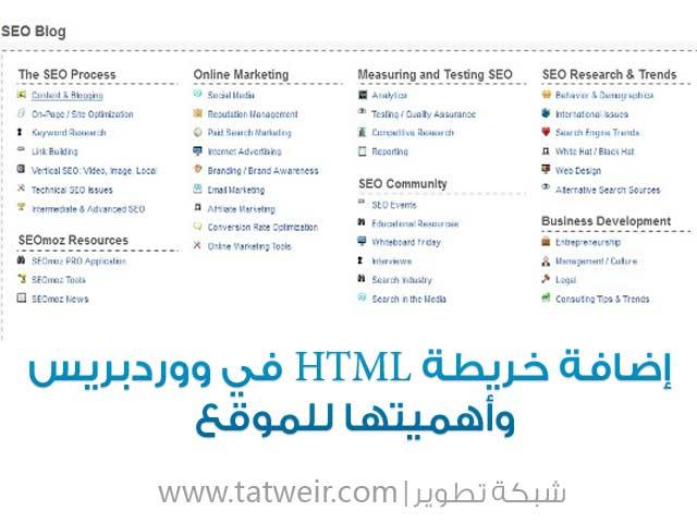 """خريطة HTML فى ووردبريس """"HTML Sitemap"""""""