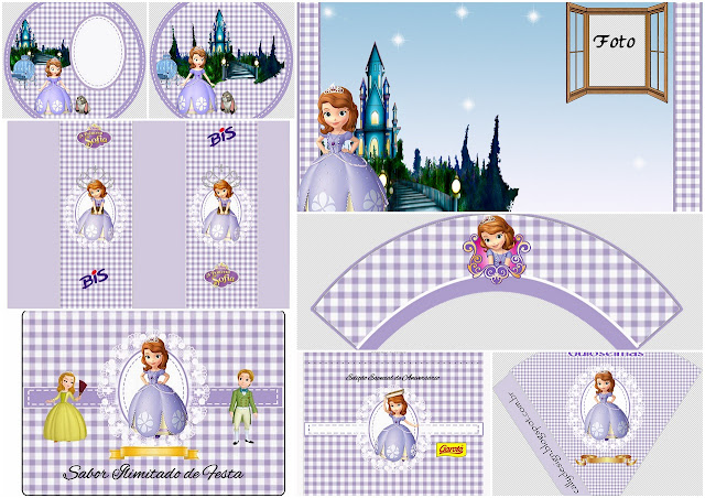 Sofia the First: Free Printable Birthday Party Kit.