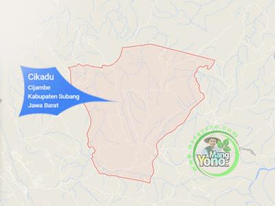 PETA : Desa Cikadu, Kecamatan Cijambe