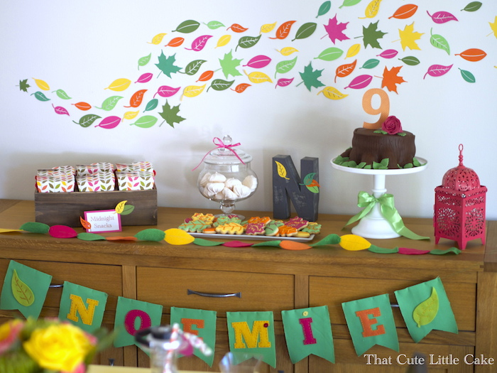 That Cute Little Cake Party Fall Leaves Birthday Party