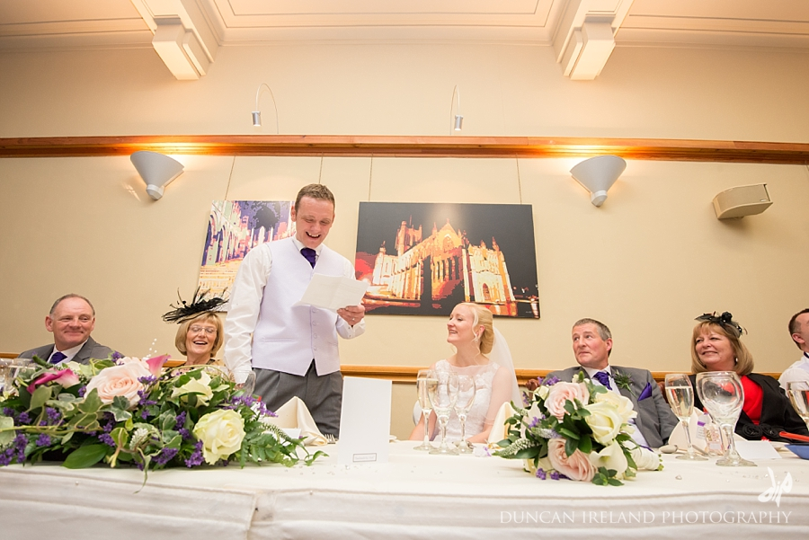 Speeches at Easterbrook Hall wedding reception Dumfriesshire
