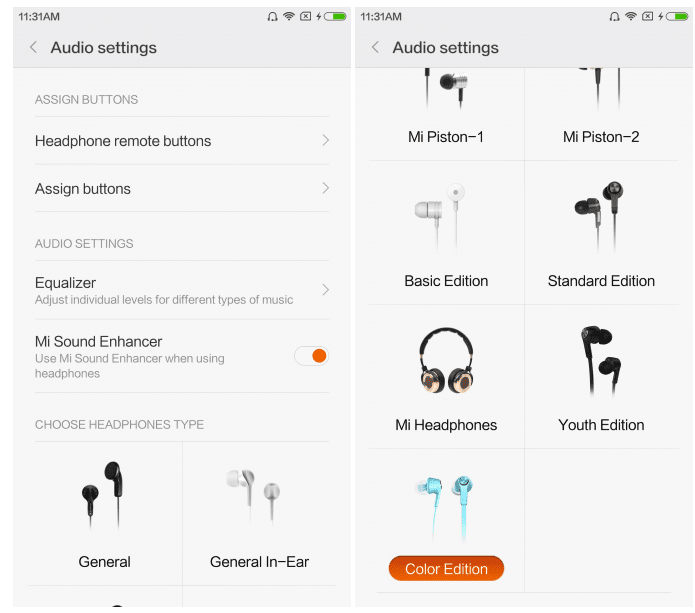 Audio Settings MIUI