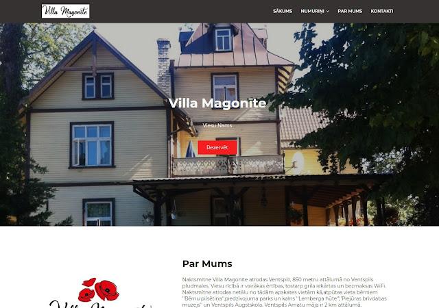 Mājas Lapa - VillaMagonīte.lv