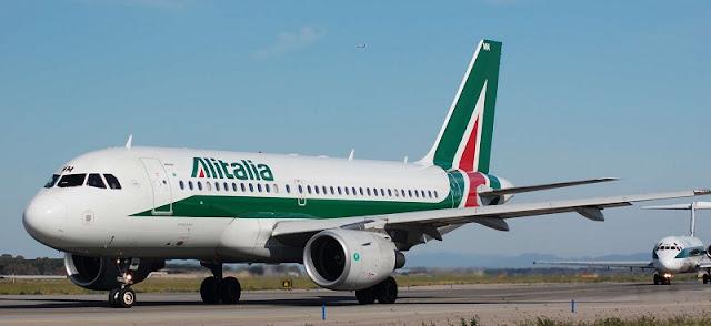 Avião da companhia área Alitalia