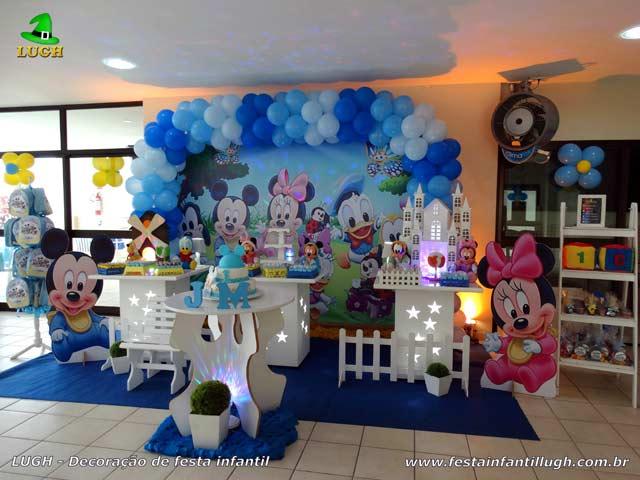 Decoração Baby Disney provençal para festa de aniversário infantil de 1 ano - Festa na Barra RJ