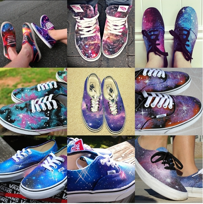 Diy Galaxy Vans Shoes