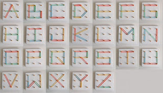 abecedario geoplano