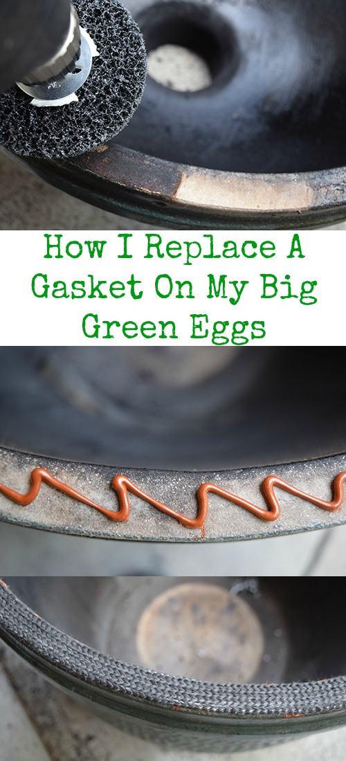 Step by step tutorial for how to install a new gasket on a big green egg kamado grill.