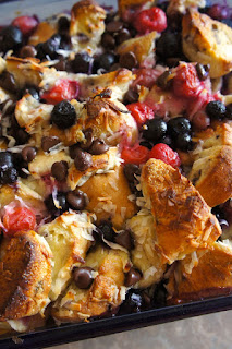 Cherry Blueberry Coconut Chocolate Chip French Toast: Savory Sweet and Satisfying