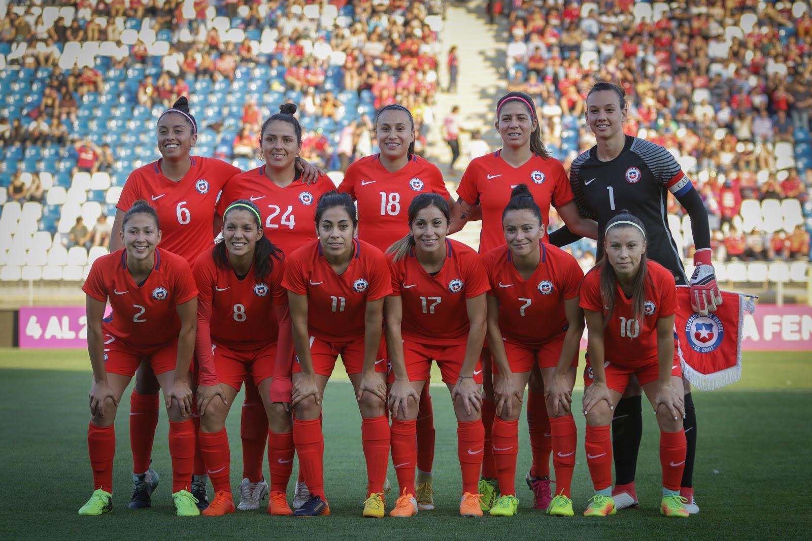 Formación de selección femenina de Colombia ante Chile, amistoso disputado el 6 de marzo de 2018